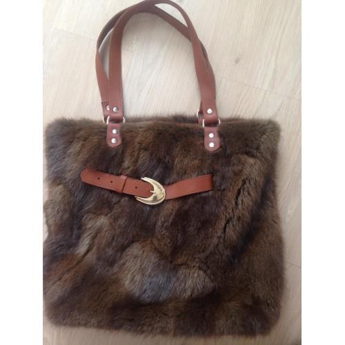 !ХИТ!Нова дамска чанта Естествен косъм