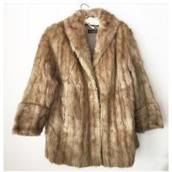 Дамско палто естествен косъм